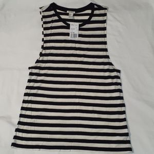 Forever 21 Tops - NEW Forever 21 Striped Jail Inmate Tank Top Shirt